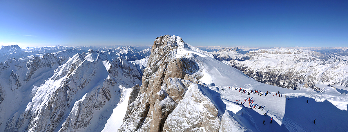 montagna, inverno, dolomiti,