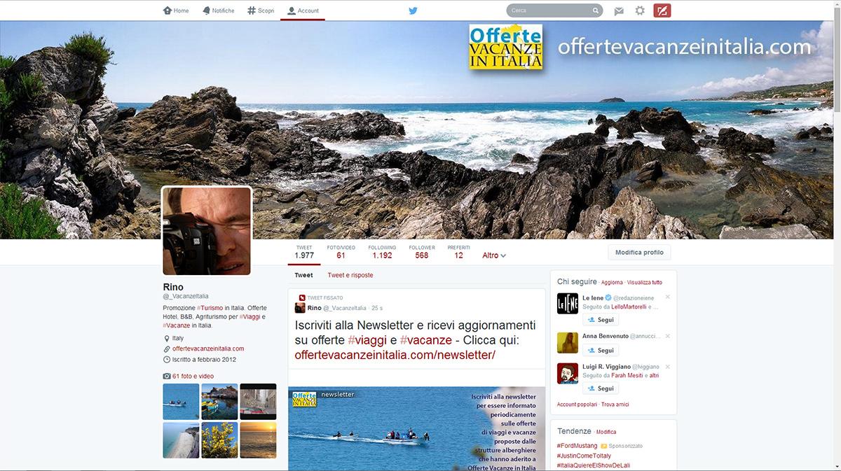 offerte vacanze italia twitter,