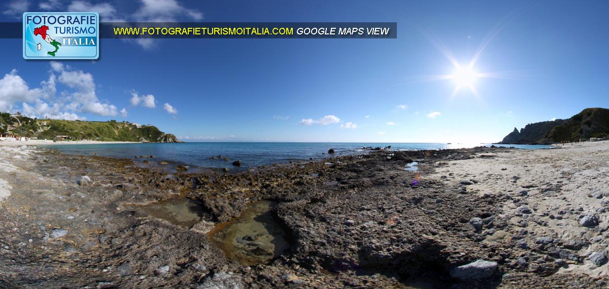 capo vaticano spiaggia grotticelle, virtual tour,