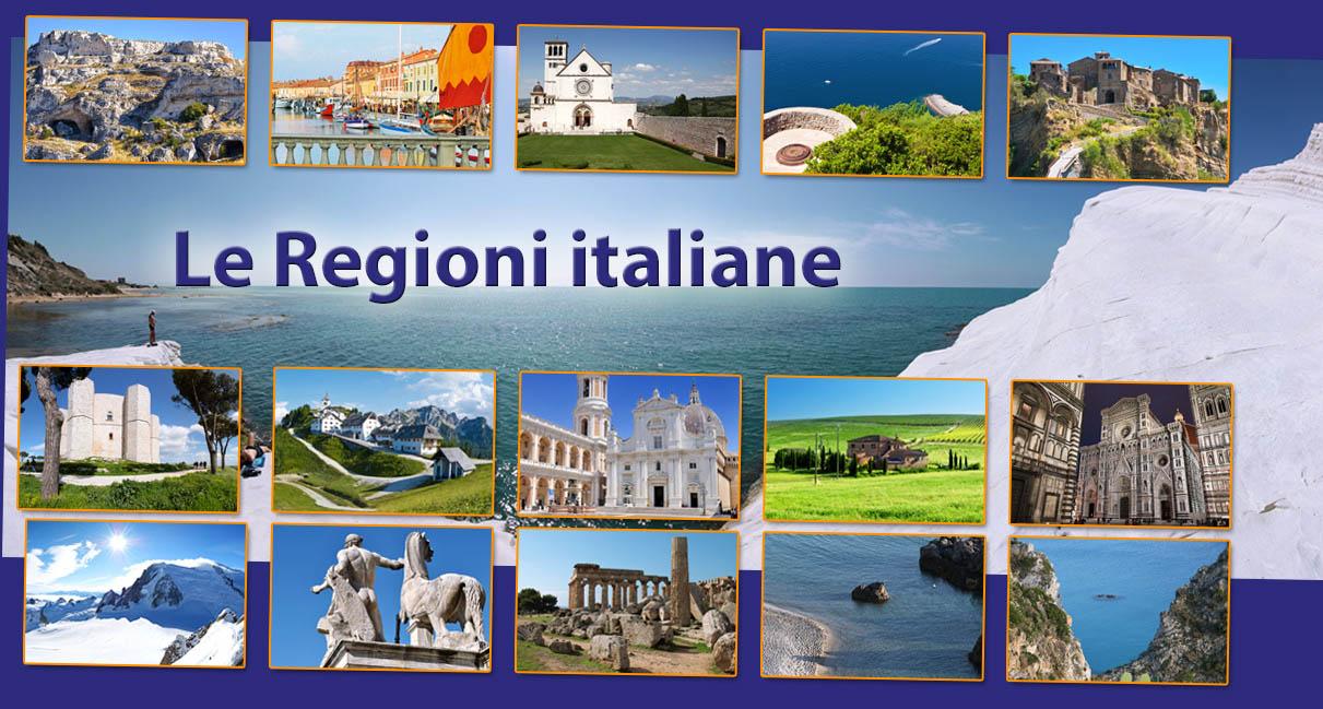 Regioni, vacanze in italia.