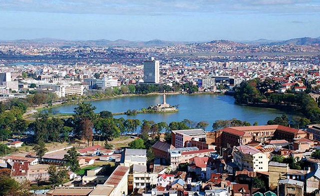 Antananarivo, capitale Madagascar, lago Anosy