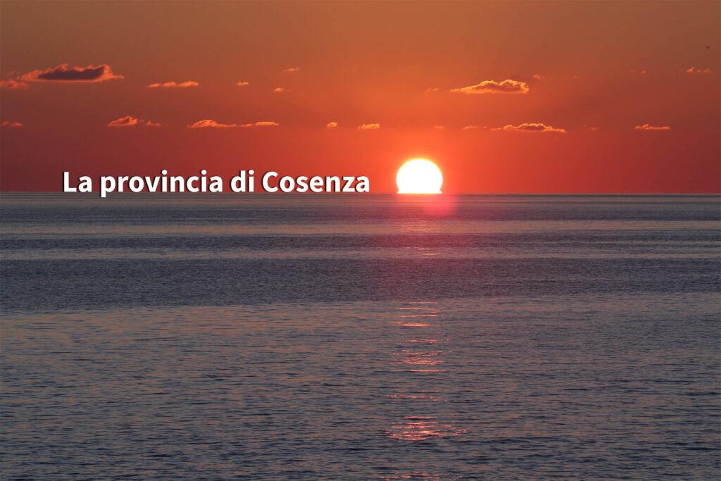Provincia di Cosenza, tramonto a Guardia Piemontese.