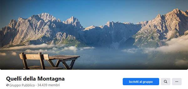 Quelli della montagna - Gruppo Facebook