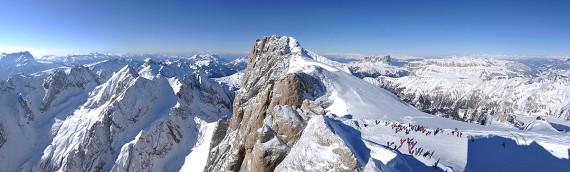 Montagna: inverno Dolomiti.