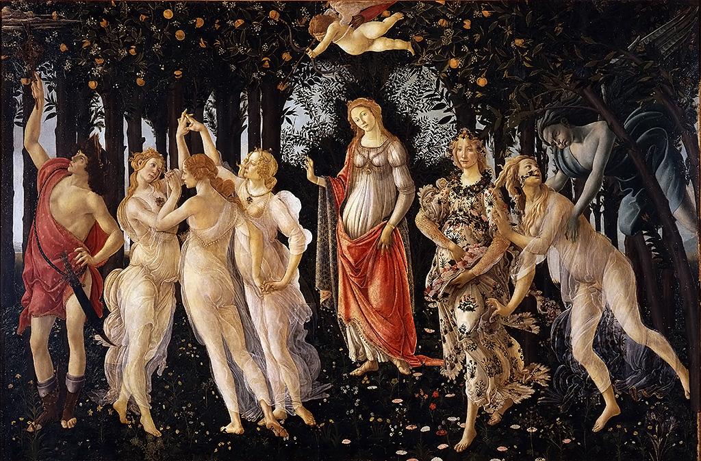 firenze, botticelli, primavera,