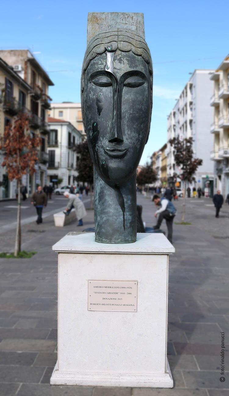 MAB Cosenza - Testa di Cariatide. Di Amedeo Modigliani.