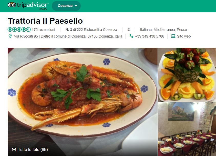 """Cucina tipica di Cosenza - Trattoria """"Il Paesello"""" - Tripadvisor"""