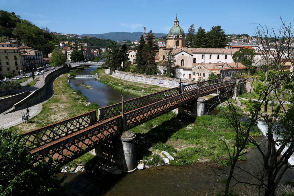 Confluenza dei fiumi Crati e Busento., a Cosenza