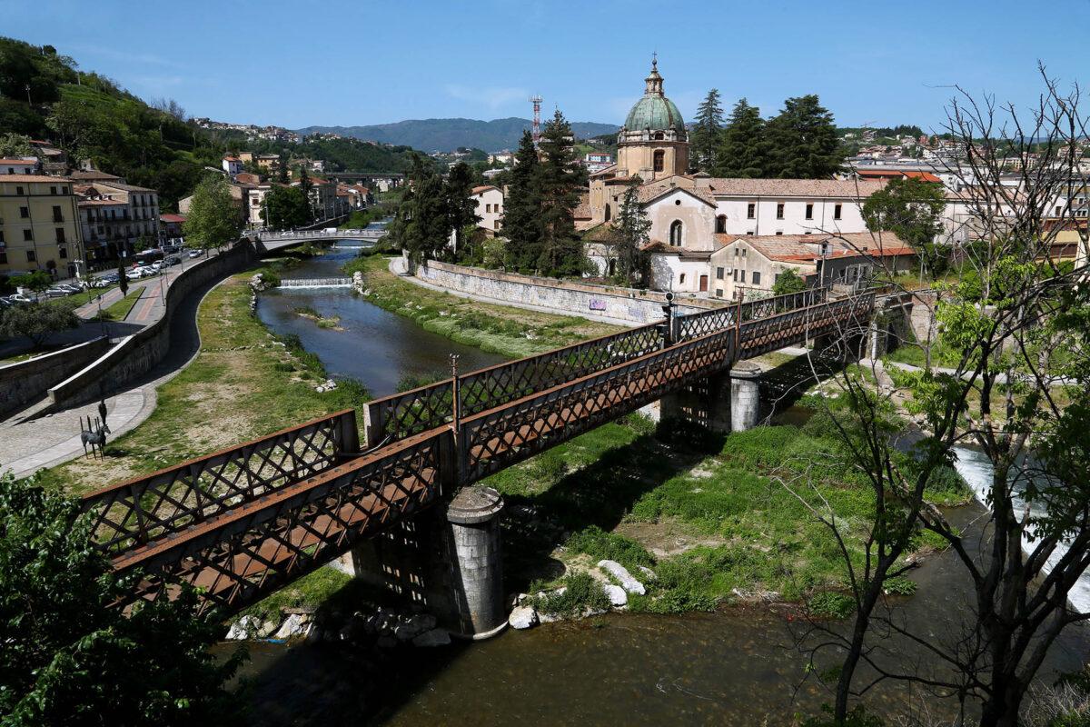 Confluenza dei fiumi Crati e Busento, a Cosenza
